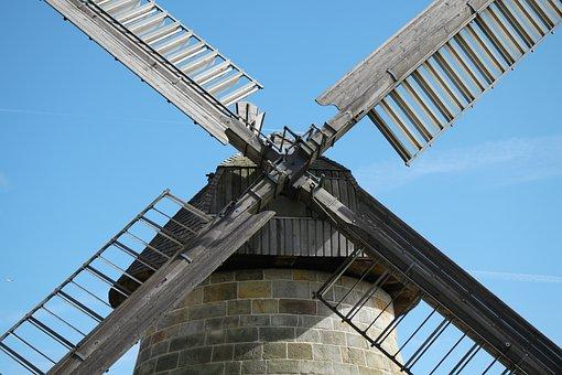 Windmill, Detail, Pinwheel, Wing, Wind, Wind Energy