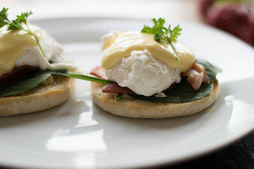 Breakfast, Eggs Benedict, Food, Poached, Egg, Delicious