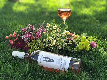 Springtime, Spring, Flowers, Rose, Rosé Wine, Wine