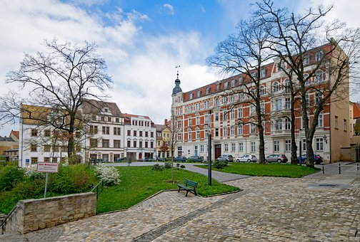 Zeitz, Saxony-anhalt, Germany, Old Town, Old Building