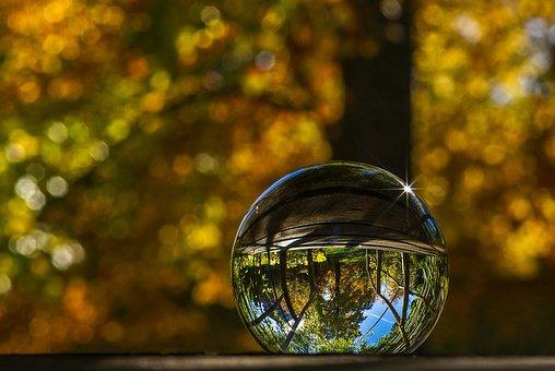 Crystal Ball, Glass, Glass Ball, Ball, Round