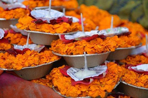 India, Candles, Hindu, Religion, Culture, Religious