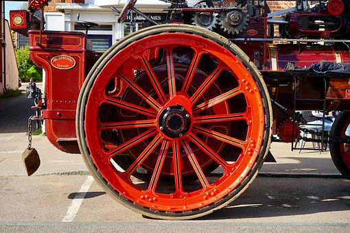 Traction Engine, Wheel, Engine, Traction, Industrial