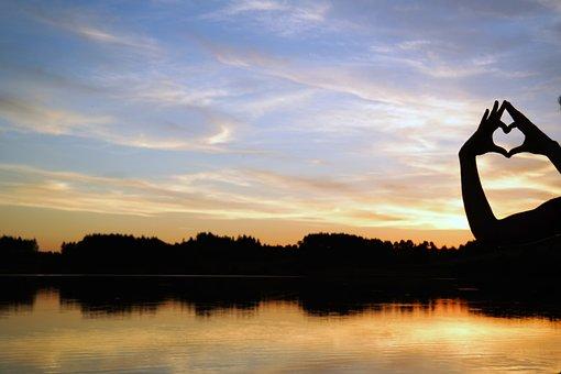 Sunset, Lake On Fire, Lake, Twilight, Nature, Landscape