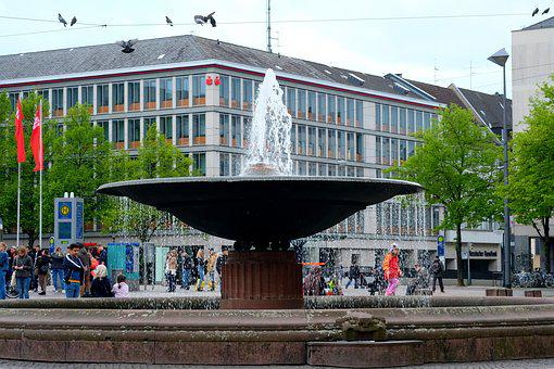 Space, Stadtmitte, Architecture, Marketplace, City