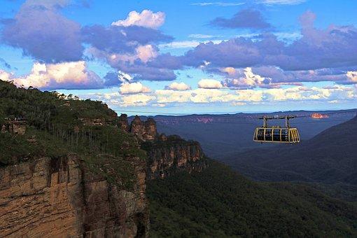 Australia, Skyway, Three Sisters, Mountains