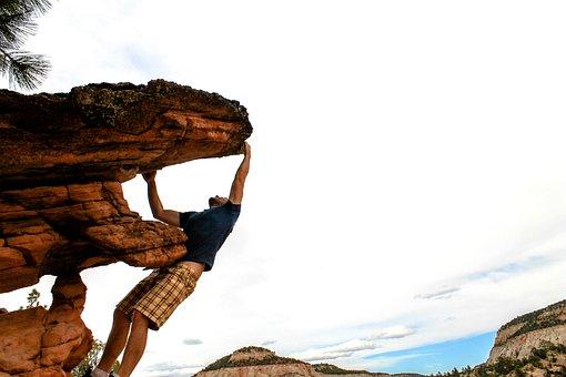 Climbing, Mounts, Zion, Mountain, Adventure, Nature