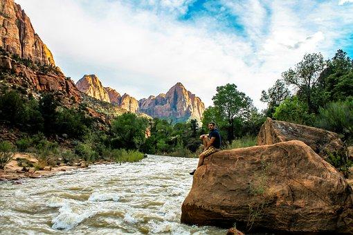 Zion, Hike, Mountains, Park, Hiking, National, Utah