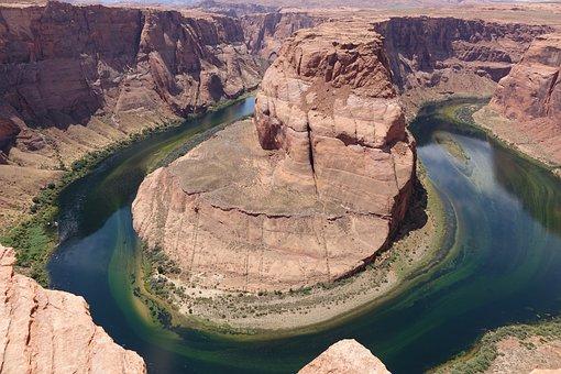 Usa, Colorado, Horseshoe Bend, Arizona, Nature, River
