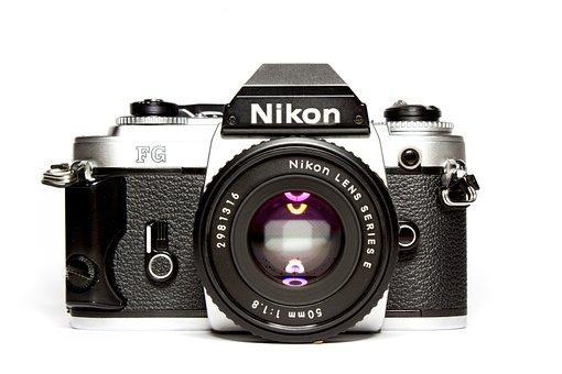Camera, Nikon, Analog, Lens, Photograph, Retro