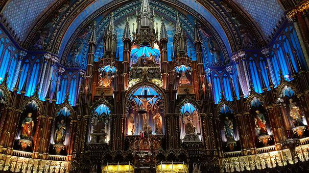 Montréal, Basilica, Our Lady Of Montreal, Our Lady