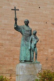 Junipero Serra, Roman Catholic, Palma, Statue