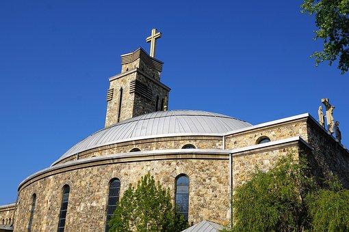 Pforzheim, Church, Building, Germany, Summer, Religion