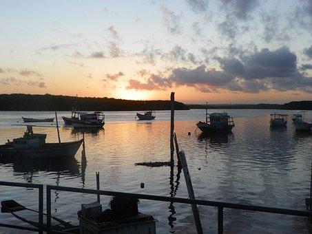 Pôr Do Sol, Porto Seguro, Bahia, Brasil, Sunset, Brazil