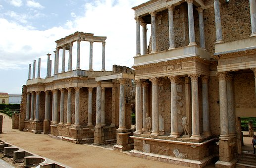 Merida, Spain, Extremadura, Monument, Rome, Theatre