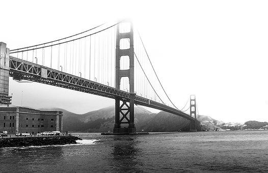 Golden Gate Bridge, San Francisco, America, Usa, Bridge