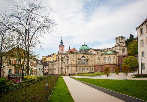 Baden Baden, Friedrichsbad, Spa Town, Promenade