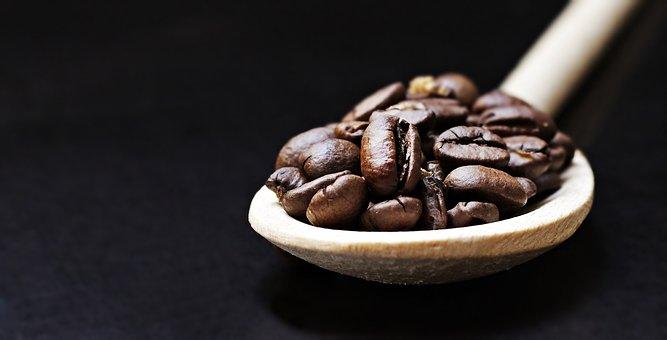 Coffee Beans, Spoon, Wooden Spoon, Coffee, Pleasure