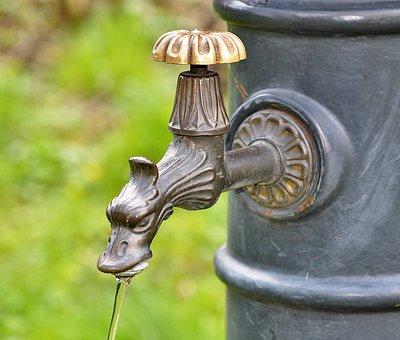 Faucet, Well, Water, Waterworks, Water Intake, The Flow