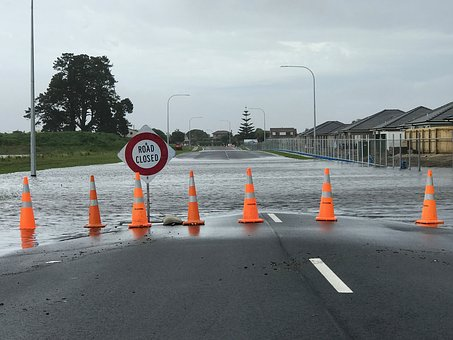 Flooding, Road, Closed, Disaster, Wet, Street, Danger