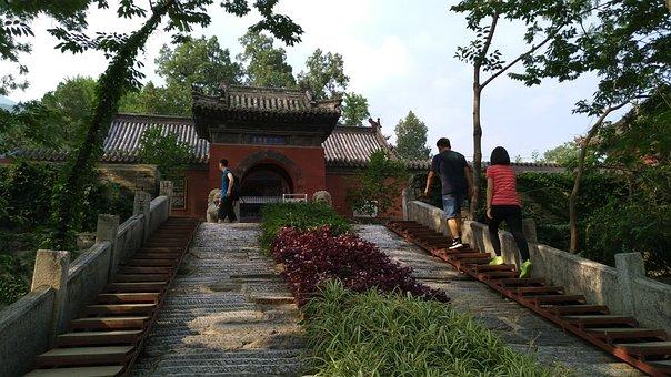 Temple, Antiquity, Tea Garden, Hongluosi