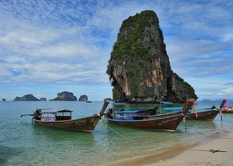 Phra Nang, Thailand, Tropical, Paradise, Boat
