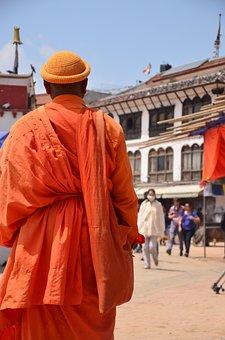 Boudhanath, Kathmandu, Nepal, Monk, Stupa