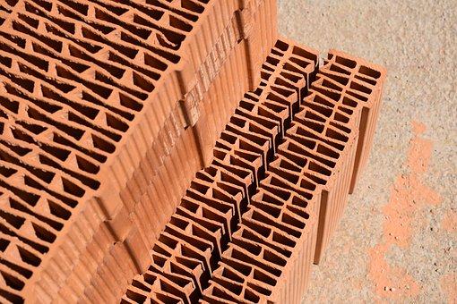 Brick, Brick Block, Housebuilding, Building Material