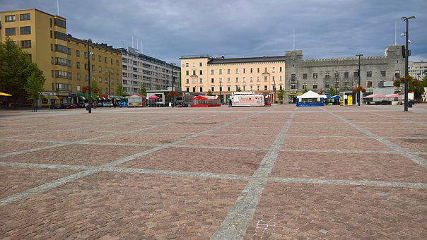 Market Square, Bay, Finnish, City, Market, Center