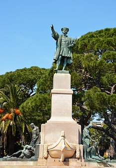 Italy, Rapallo, Statue, Cristoforo Colombo, Holiday