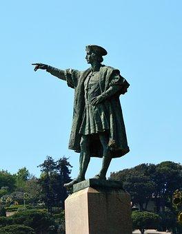 Italy, Rapallo, Statue, Cristoforo Colombo