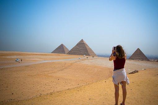 Pyramid, Egypt, Girl, Egyptian, Ancient, Travel