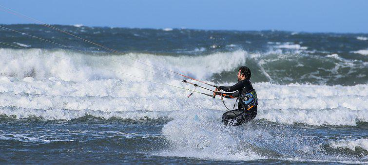 Surf, Kite Surf, Tables, Sea, Freestyle, End, Sport