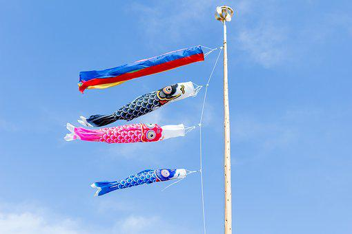 Carp Streamer, May, Festival, Children's Day, Japan