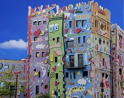 Architecture, Colorful Facade, Houses, Rizzi House