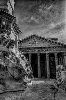 Pantheon, Rome, Landmark, Italy, Architecture, Building
