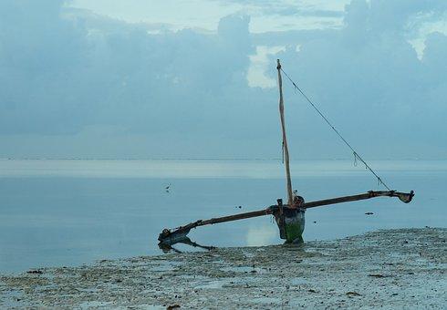 Boat, Indian Ocean, Catamaran, Landscape, Blue, Tourism