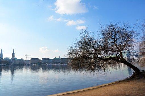 Hamburg, Lake, City Park, Hanseatic City, Landscape