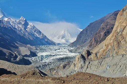 Glacier, Passu, Pakistan, Peak, Landscape, Mountain