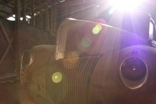 Old Truck, Old Car, Rust, Sun Rays, Lens Flare, Retro
