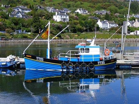 Fishing Boat, Tarbert, Loch Fyne, Harbor, Scotland