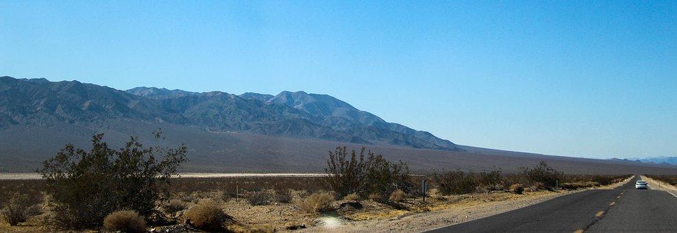 Road, Desert, Usa, Vacation, Mojave