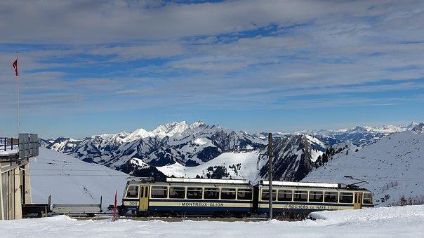 Mountains, Alpine, Mountain Railway, Switzerland