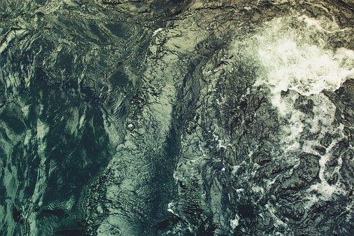Water, Waves, Foam, Blue, Sea, Nature, Liquid, Wet