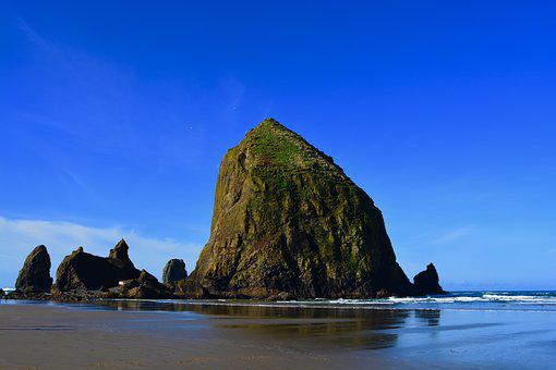 Rock, Cannon Beach, Oregon, Ocean, Pacific, America
