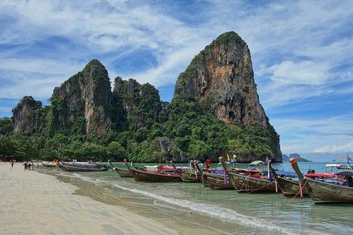 Thailand, Railay, Beach, Tropical, Paradise