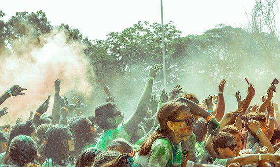 Color, Party, Girl, Children, Concert, Carnival, Colors