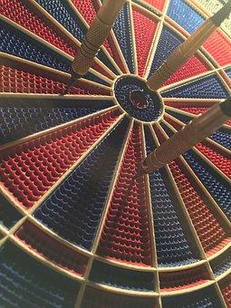 Play, Dart, Target, Bull's Eye, Game Of Darts