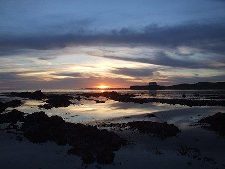 Church, Sea, Aberfraw, Anglesey, Ynys Mon, North, Wales