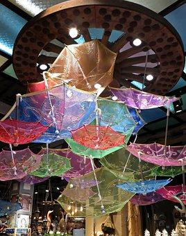 China, Shanghai, Decoration, Umbrella, Color, Store
